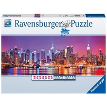 Ravensburger Ravensburger Puzzle 1000pc Panorama Manhattan Lights