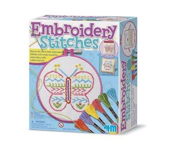 4M Craft Kit Embroidery Stitches