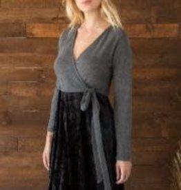 Mystree Wrap velvet dress