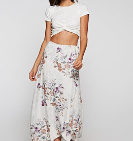 love stitch floral wrap skirt