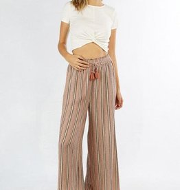 love stitch striped wide leg pant