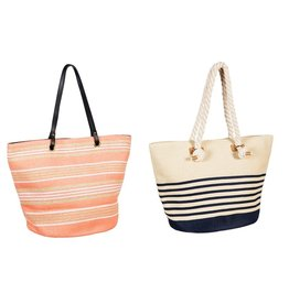 Evergreen straw tote