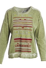 Evergreen Embroidered BohoTop