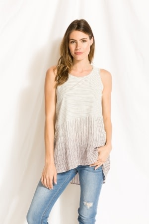 Mystree striped tank
