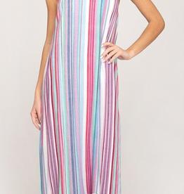 she and sky multi stripe maxi