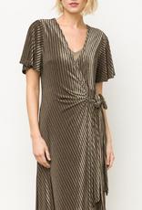 Mystree Olive blk dress