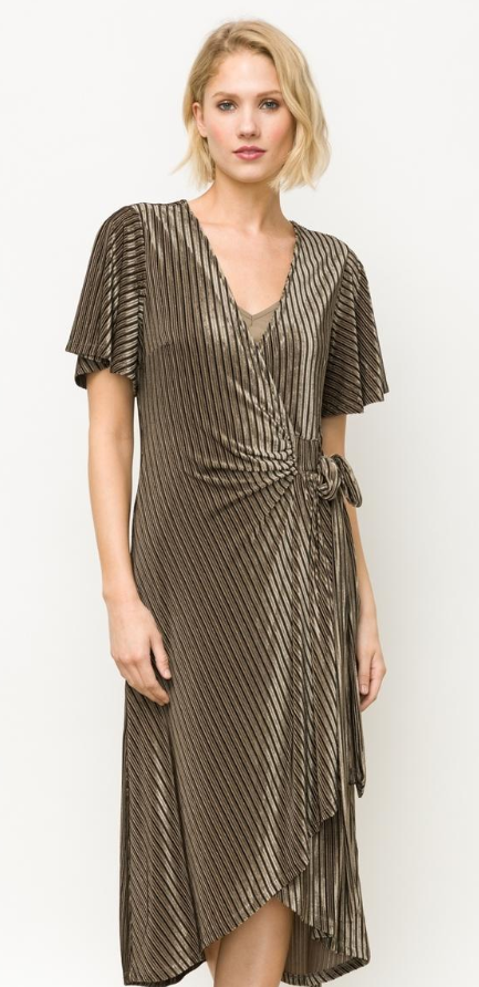Mystree Olive blk dress