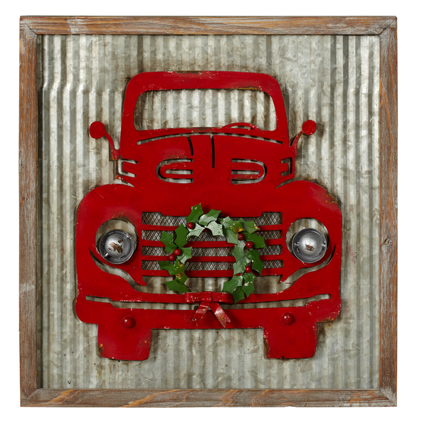 Ganz red truck wreath