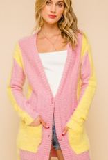 hem and thread pink lmn cardi