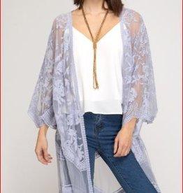 she and sky lilac kimono