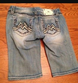 Miss Me Distressed Lightwash Bermuda Short