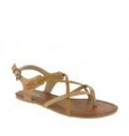 Mia Adriana Nude or white Flat Strappy Sandal