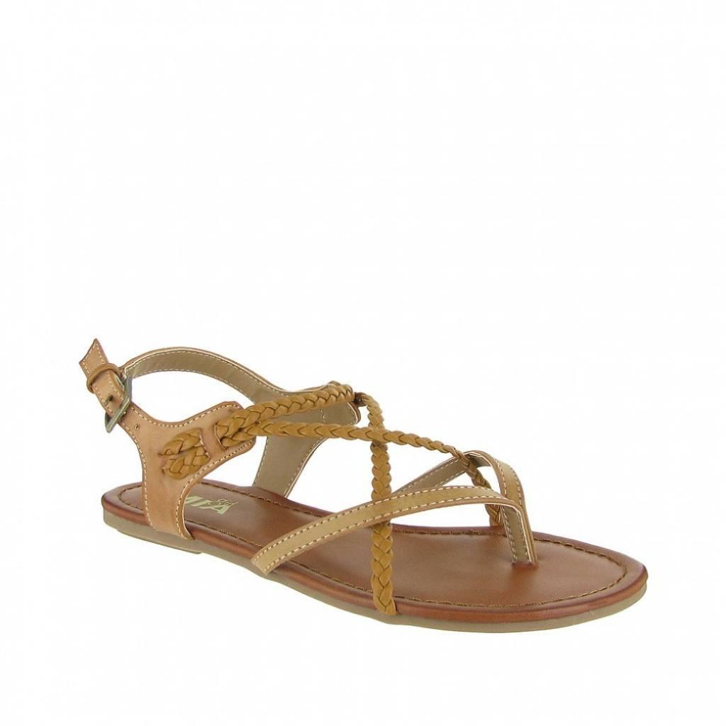 Mia Adriana Nude Flat Strappy Sandal
