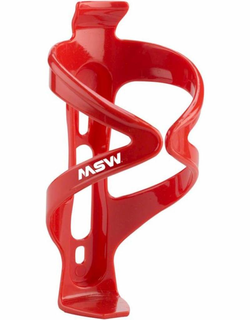 MSW MSW PC-150 Composite Water Bottle Cage Red