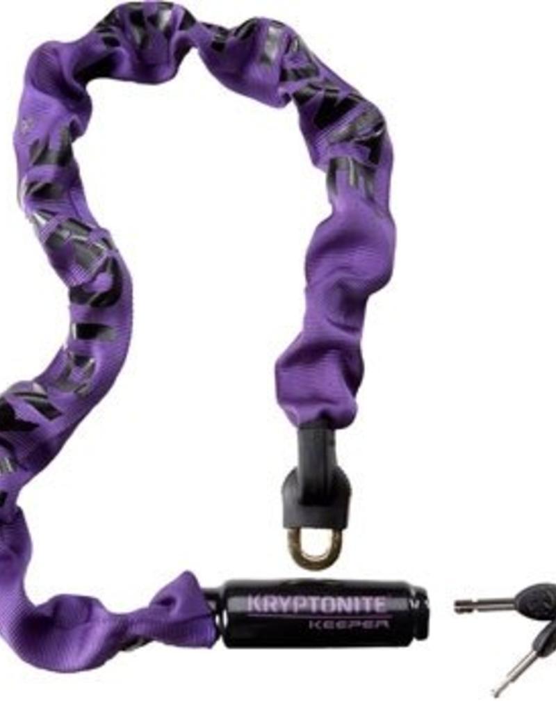 Kryptonite Krypto Keeper 785 Integrated Chain Lock: 2.8' (85cm) Purple