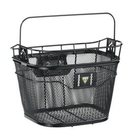 Topeak Topeak Front Basket with Fixer 3 Handlebar Bracket: Black