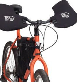 Bar Mitts Bar Mitts Mountain / Commuter Pogie Handlebar Mitten: for Mirrors XL Black