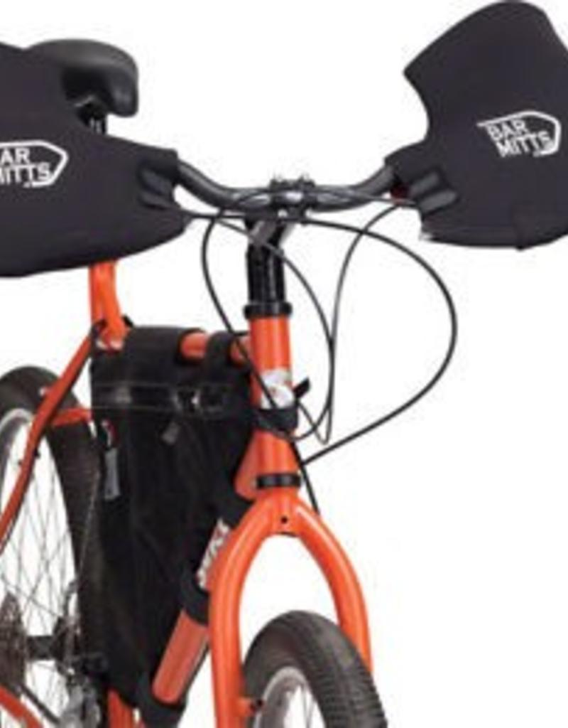 Bar Mitts Bar Mitts Mountain / Commuter Pogie Handlebar Mitten: for Mirrors LG Black