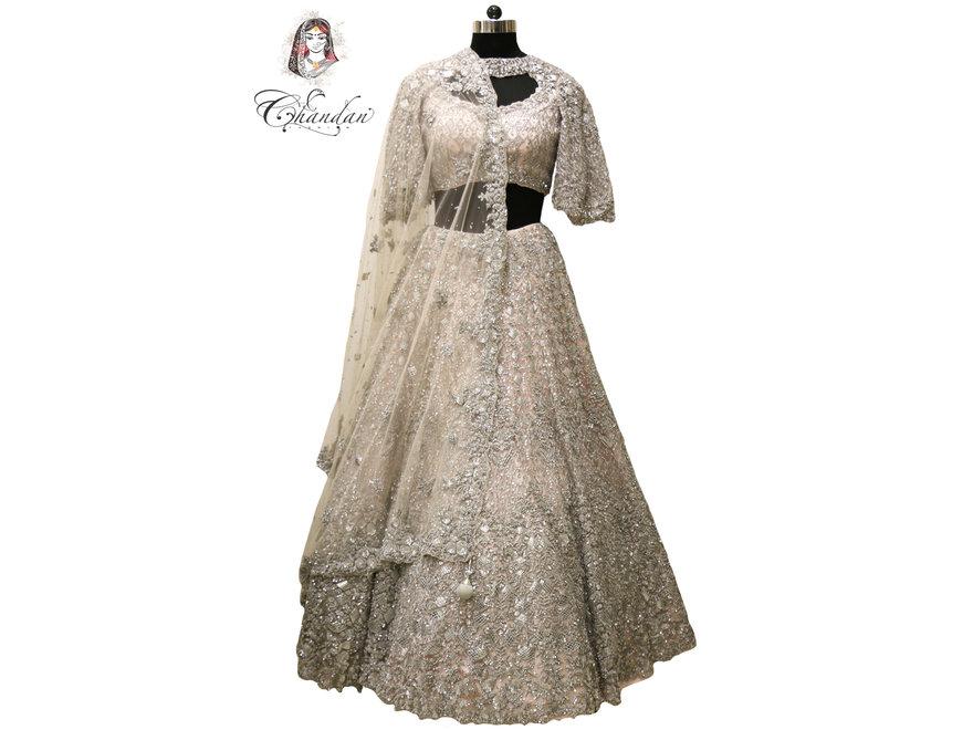 1f94aa5659 Heavy Ice Pink Bridal Lehenga Choli 34
