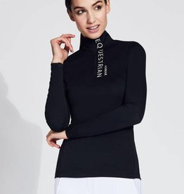 Asmar Asmar Aubrey 1/4 Zip Sun Shirt Black