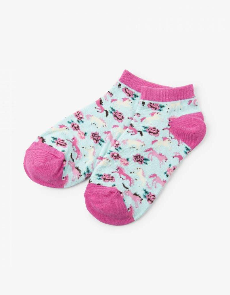 Hatley Womens Ankle Socks - Ponies & Peonies