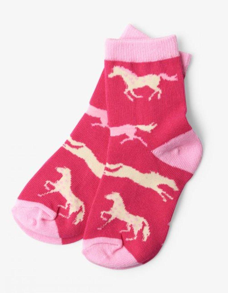 Hatley Kids Hearts & Horses Socks