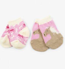 Hatley Hatley Baby Socks - Pretty Horses 2 Pack
