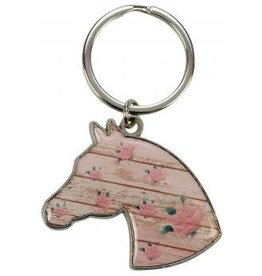 Horsehead with Roses Keychain
