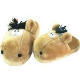 'Charlie' Adult Horse Slippers O/S