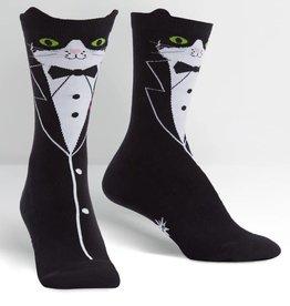 Sock it to Me Sock it to Me Crew - Tuxedo Cat