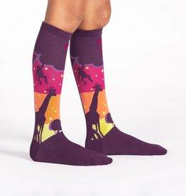 Sock it to Me Sock it to Me Youth Knee High - Sunset Safari