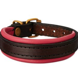 Tory Padded Leather Bracelet Havana/Pink with Nameplate