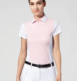 Asmar Asmar Eros Short Sleeve Polo Shirt Primrose/White