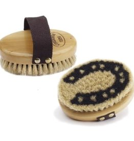 Equi-Essentials Wood Back Body Brush with Horse Hair Bristles 5""