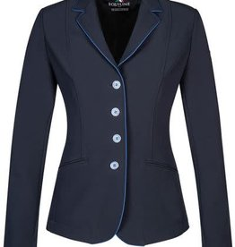 Equiline Equiline Christine Soft Shell Show Jacket Navy/Royal Pipe