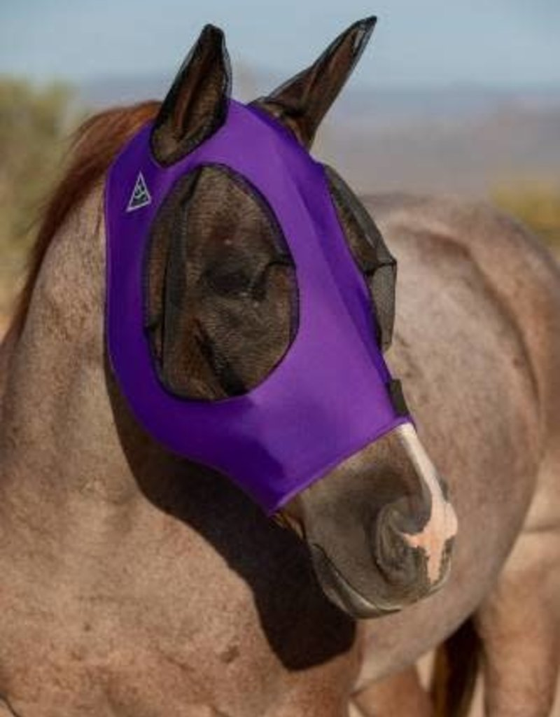 Professional's Choice Comfort Fit Lycra Fly Mask Purple