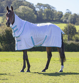 Shires Shires Tempest Fly Sheet White/Teal