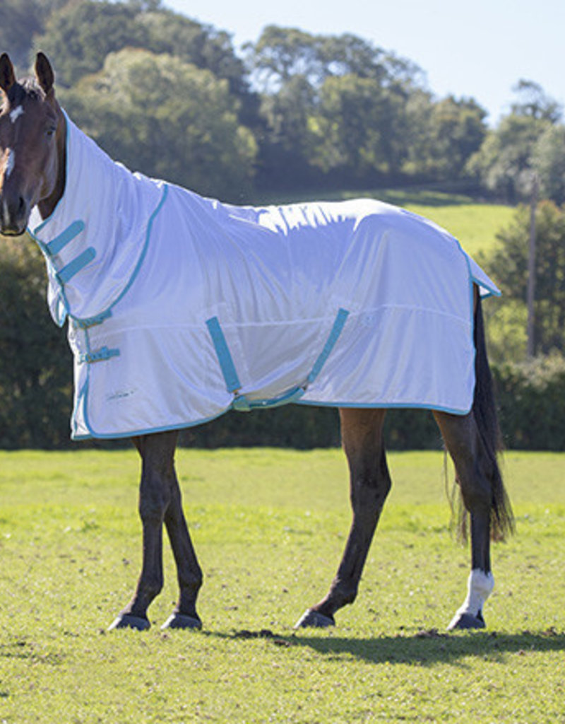 Shires Tempest Fly Sheet White/Teal