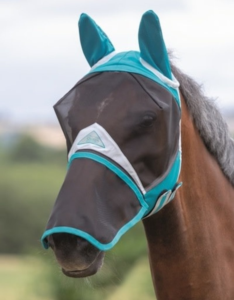 Shires Full Face Fly Mask with Zip Off Nose