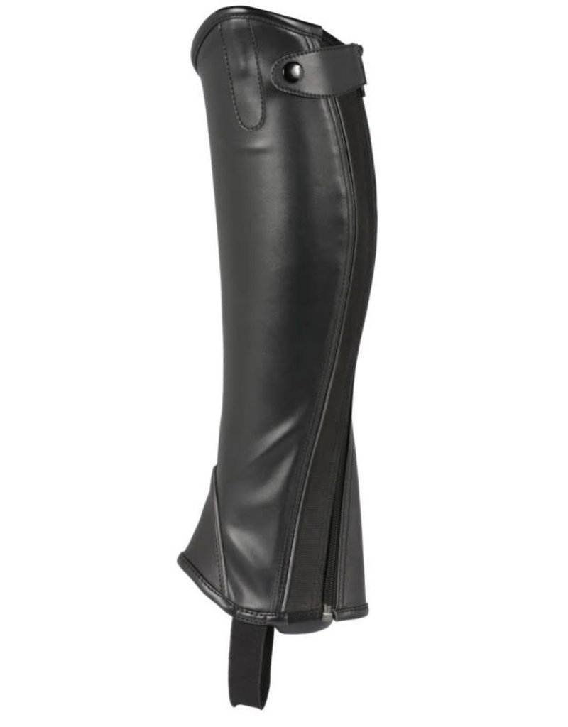 Topline Youth Synthetic Half Chaps Black