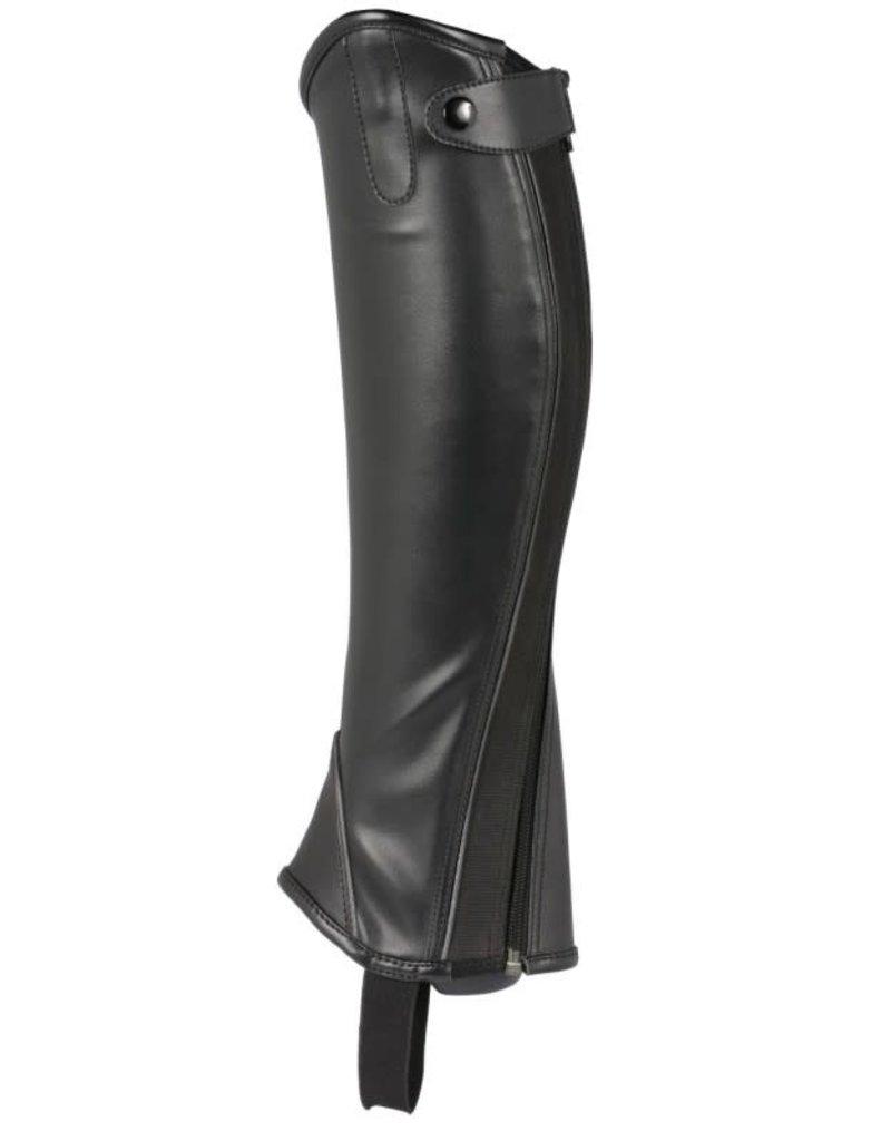 Topline Ladies Silhouette Synthetic Half Chaps Black