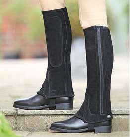 Shires Shires Childs Suede Half Chaps Black