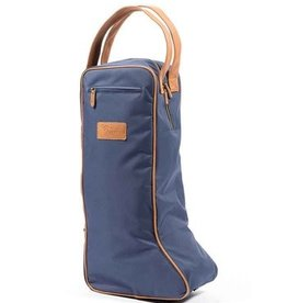 Shires Tall Boot Bag Navy/Tan
