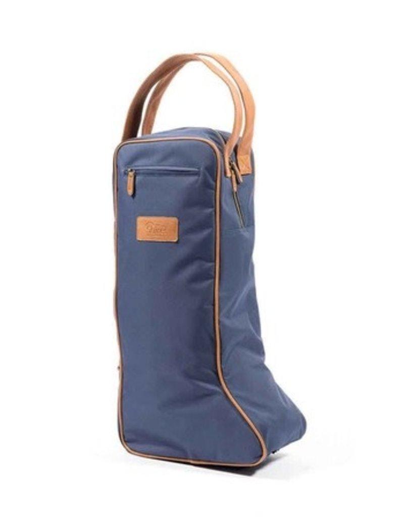 Tall Boot Bag Navy/Tan