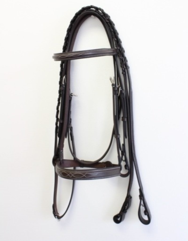 Royal Fancy Hunter Bridle w Laced Reins