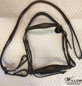 Royal Royal Anatomic Bridle w Rubber Reins