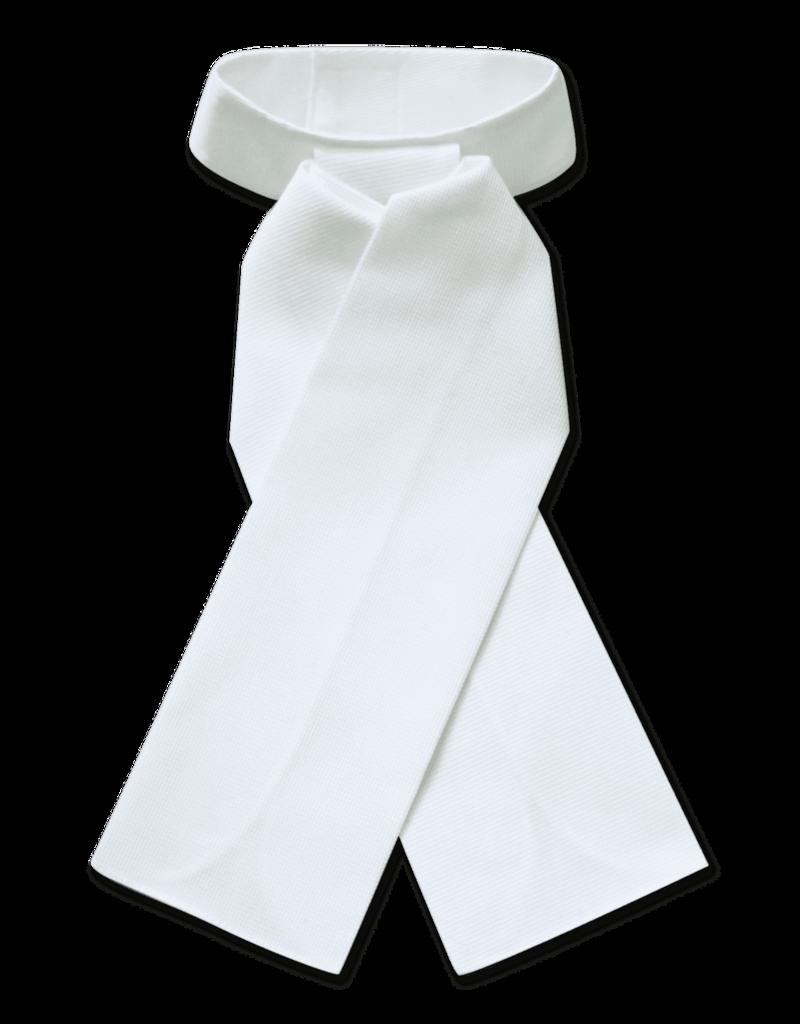 ELT Pre-Tied Stock Tie - White