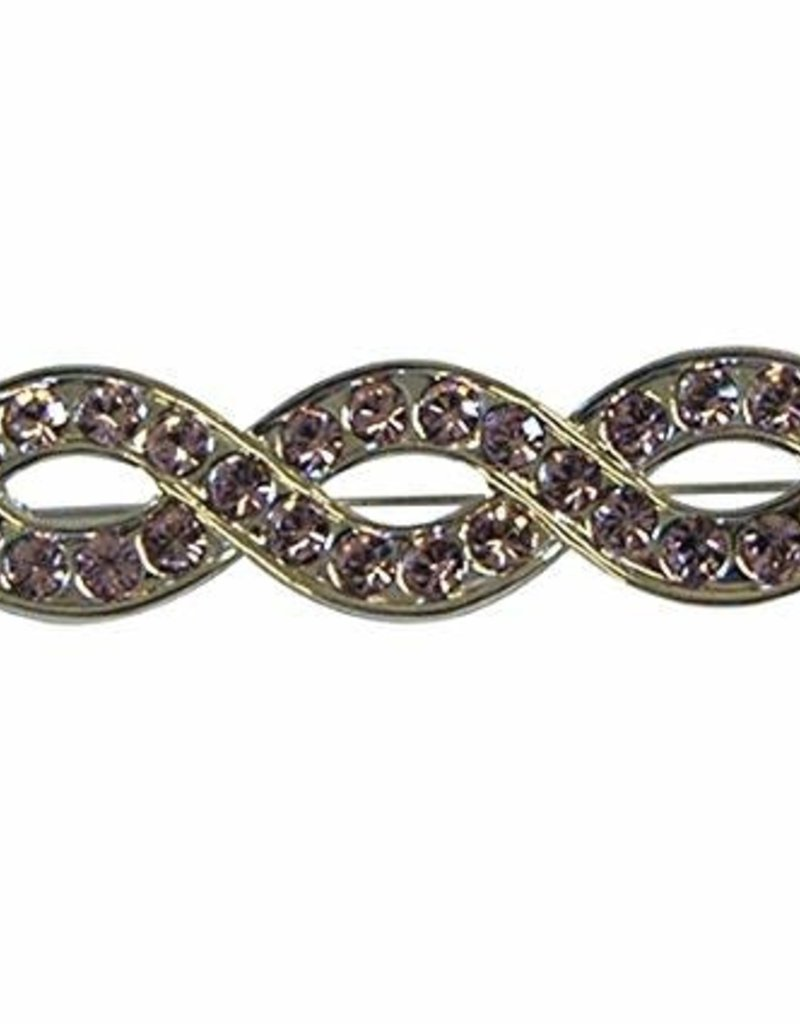 Infinity Stock Pin with Pink Stones
