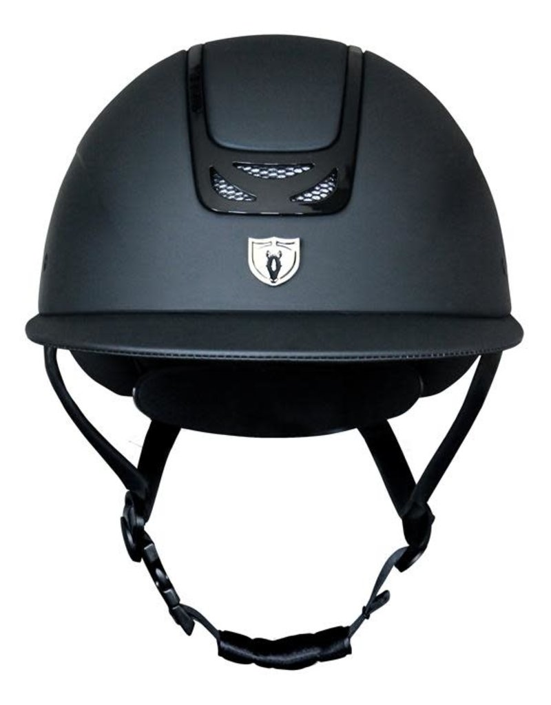 Tipperary Royal Helmet Wide Brim Matte Black/Gloss