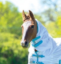 Shires Shires Fly Sheet Neck Attachment White/Teal